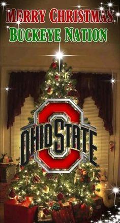 Buckeyes Football, Ohio State Football, Ohio State University, Ohio State Buckeyes, Christmas Tree Decorations, Christmas Ornaments, Holiday Decor, Ohio State Wallpaper, Cornhole Board Wraps