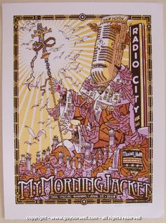 2008 My Morning Jacket - NYC 2nd Concert Poster by Guy Burwell