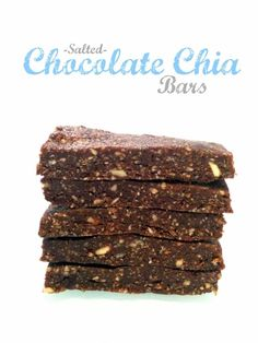 No-Bake Salted Chocolate Chia Bars are a tasty and easy, gluten-free, vegan, and kid-friendly snack with no refined sugar! These will become a household favorite, guarenteed.