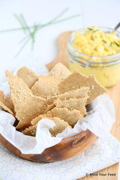 Havermout crackers met sesamzaadjes