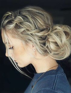 36 Amazing Graduation Hairstyles For Your Special Day Braided Graduation Updo Hairstyles picture 5 Long Face Hairstyles, Short Hair Updo, Easy Hairstyles, Beautiful Hairstyles, Hairstyle Ideas, Hairdos, Curly Hair Ponytail, Teenage Hairstyles, Long Haircuts