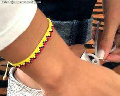 Loom Bracelet Patterns, Bead Loom Bracelets, Bead Loom Patterns, Beaded Jewelry Patterns, Ankle Bracelets, Friendship Bracelets Designs, Bracelet Designs, Bead Jewellery, Loom Beading