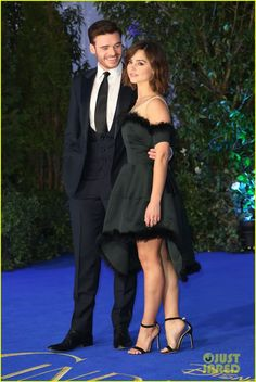 Richard Madden & Jenna Coleman at Disney's Cinderella Premiere held at Odeon Leicester Square in London, England.(19-3-15) Thursday