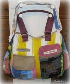 Old Cotton Cargo handtas Camden 1574 gele streep | ♥ Old Cotton Cargo Handgemaakte tassen | Malaika Creatives