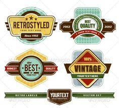 Vector set of grunge retro badges