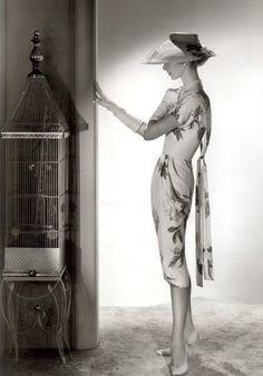 1950s fashion   Dress by Irene Lentz-Gibbons - c. 1958