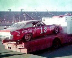 Nascar Race Cars, Old Race Cars, Coca Cola, Classic Race Cars, Drag Racing, Auto Racing, Vintage Race Car, Vintage Auto, Car Trailer