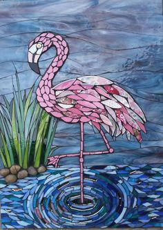 Flamingo mosaic, Julie Aldridge
