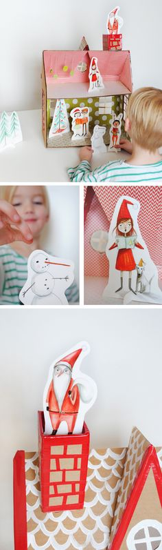 Christmas Printables complete with gift tags, invites and paper dolls