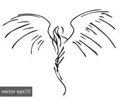 Simple Angel Tattoos, Tatoo Angel, Guardian Angel Tattoo, Small Angel Tattoo, Skull Tatto, Neck Tatto, Pinstriping, Body Art Tattoos, Small Tattoos