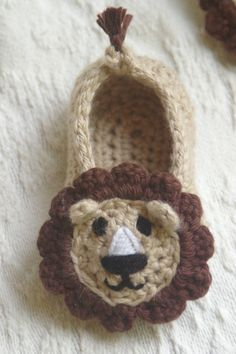 Baby Lion House Slippers PDF pattern