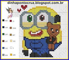 Bob Minion pattern by Dinha Ponto Cruz
