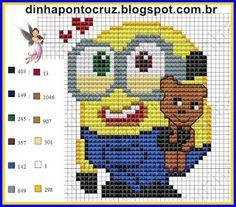 Bob Minion pattern by Dinha Ponto Cruz