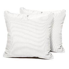TK Classics Outdoor Lumbar Pillow Color: White