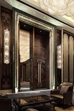 hotel door Creating unique and exclusive design de - hotel Luxury Home Decor, Luxury Interior, Luxury Homes, Small Space Interior Design, Home Interior Design, Interior And Exterior, Lobby Interior, Interior Design Magazine, Door Design