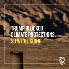 BREAKING: We filed a lawsuit to block the Trump administration's methane pollution rollback.🙅❌ • • • The Trump administration violated the Clean Air Act in suspending critical protections against methane leaks and other dangerous air pollution from the oil and gas industry last week. • • • This is the first lawsuit against President Trump's EPA over rollbacks of federal efforts to fight climate change. NRDC, together with Clean Air Council, Earthworks, Environmental Defense Fund…