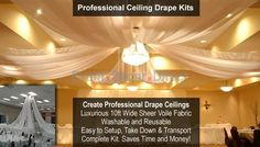 DIY Ceiling Drape Kits and other DIY wedding stuff