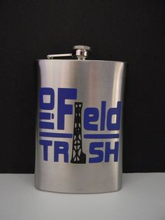 Oilfield Trash Flask by treasures638 on Etsy, $15.75