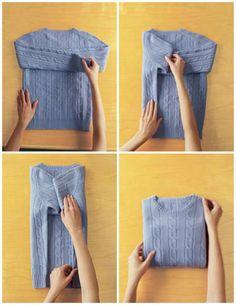 Un suéter | 25 tutoriales para que aprendas a doblar cosas como un verdadero adulto