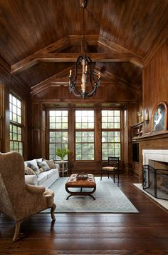 popular living room design ideas with wooden interior to look more modern page 6 Living Room Modern, Living Room Designs, Living Rooms, Luxury Interior Design, Interior Modern, Modern Exterior, Traditional House, Traditional Decorating, Traditional Kitchens