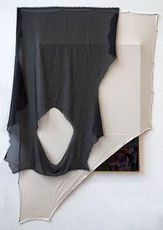 Anna Glinkina Untitled 2016 cm Wooden frame, canvas, used artist pallette, found fabric, black stretching pi Stretching, Wooden Frames, Anna, Artist, Fabric, Black, Tejido, Tela, Wood Frames