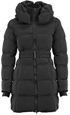 3a5eb463280 SAMANTHA'S NEW LADIES BELTED ZIP PADDED COAT QUILTED WOMENS WARM WINTER JACKET  TOP: Amazon.