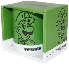 Nintendo - Luigi Green 2D Mug  Manufacturer: Together Enarxis Code: 015366 #toys #mug #Luigi #Nintendo #videogames