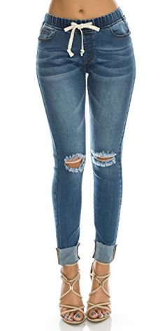 Jeans Jeans Woman 2019 Spring Summer New Denim Trousers Foot Heavy Hand Drill Beads High Waist Slim Elastic Nine-cent Jeans Lady Traveling