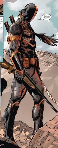 (Deathstroke #2) - Tony Daniel Dc Deathstroke, Deathstroke The Terminator, Comic Villains, Dc Comics Characters, Dc Heroes, Comic Book Heroes, Samurai, Univers Dc, Arte Dc Comics