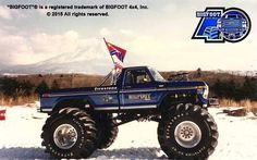 Bigfoot 1 in Japan pictured in front of Mt Fuji.