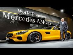 Weltpremiere: Mercedes AMG GT | Neuvorstellung | Modell 2015  Als Nachfolger des Supersportlers Mercedes SLS AMG wartet der AMG GT beachtlichen Werten auf. Angetrieben von einem 4,0 Liter V8 Biturbo mit 510 PS und 650 Nm geht er mit beindruckender Schubkraft Richtung Tempo 300. Optisch erinnert er an die Design-Ikone des Flügeltürers 300SL mit seiner lang gezogenen Haube, dem dominanten Grill nebst großem Stern und der relativ kompakten Fahrgastzelle. Quelle: news2do.com