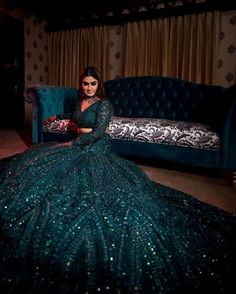Trending Engagement Dresses And Where To Buy Them? - Trending Engagement Dresses And Where To Buy Them? Indian Wedding Gowns, Indian Gowns Dresses, Indian Bridal Outfits, Indian Bridal Fashion, Indian Weddings, Hindu Weddings, Bridal Dress Indian, Peach Weddings, Wedding Mandap