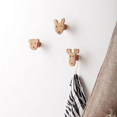 Bamboe houten haken Edvin (3st) Kids Concept | KidsDeco.nl