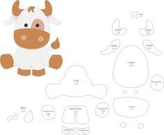 DIY Christmas: Christmas Gifts For Girlfriend Felt Animal Patterns, Felt Crafts Patterns, Stuffed Animal Patterns, Felt Board Templates, Animal Templates, Easy Felt Crafts, Sewing Crafts, Sewing Projects, Farm Birthday