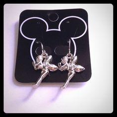 Cute Silver Tinkerbell Earrings