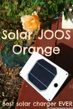 Love this solar charger. My favorite part is the internal battery so it can charge things over night! It is also really wonderful how durable and waterproof it is! http://ourfavoriteadventure.com