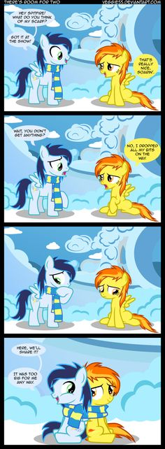 MLP Comics - my-little-pony-friendship-is-magic Fan Art awh Soarin' and Spitfire are best friends :)