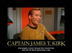 riiight...kirk is the coolest person on board...spock>captain kirk.