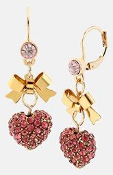 Betsey Johnson 'Iconic Pinkalicious' Drop Earrings