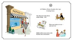 Mission - Monocle Café in London Monocle Cafe, Menu Illustration, Library Cafe, Monocle Magazine, London Cafe, Menu Restaurant, Grand Opening, Places To Eat, Coffee Shop