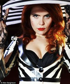 The showgirl next door: Singer Paloma Faith on her latest style collaboration Ibiza Party, Paloma Faith, Geri Halliwell, Latex Dress, Kylie Minogue, Female Singers, Madame, Redheads, Red Hair