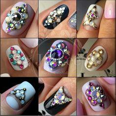 # Top 150 Rhinestones nail and Swarovski nail crystals 2018 - Nail Jewels, Nail Art Rhinestones, Rhinestone Nails, Bling Nails, Fabulous Nails, Perfect Nails, Gorgeous Nails, Love Nails, Swarovski Nail Crystals