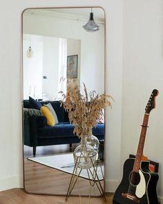 Alana Extra Large Leaning Mirror 80 x 180 cm, Brushed Brass Large Mirror Living Room, Living Room Modern, Living Room Decor, Bedroom Decor, Full Length Mirror Living Room, Dining Room, Wall Decor, Large Leaning Mirror, Extra Large Mirrors