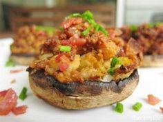 Bacon Stuffed Mushrooms | Baconologists
