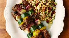 Marinated meat skewers with a three-bean salad | Recipes | Gino's Italian Escape