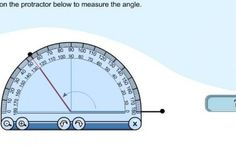 Use this interactive math activity to practice using a protractor and measuring angles