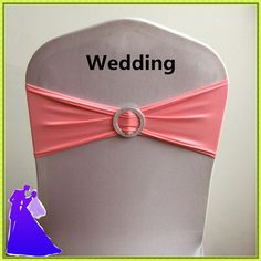Hot sale 100pcs pink  Chair Cover Bands With Buckle  &  Chair Sash Bow  For Wedding Party Decor Free shipping