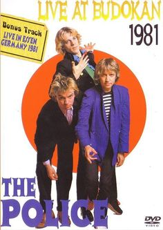 The Police (1980 + 81) - interesting! I've never seen a visual document from the legendary Budokan concert on February 2nd,1981.  Would love to own a copy myself! ;-)