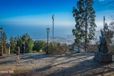 The #sun begins to descend and creates the perfect light for photos of #Monte high above the capital of #Madeira island, #Funchal.