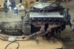 "BMW 1989 M20 ""i"" engine with auto transmission and driveshaft"